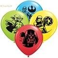12-дюймовые черно-белые латексные воздушные шары в стиле Звездных войн, аксессуары для детских игрушек, украшение для вечеринки, дня рождени...