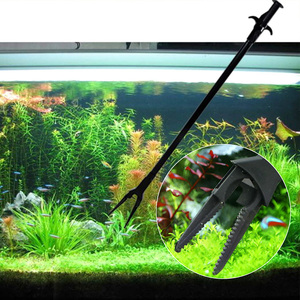 Image 2 - プライヤー魚タンクストレートピンセット鉗子クリップ水族館クリーニングクランプ植物剪定トングプラスチックユニバーサルクリーニングツール 50 センチメートル