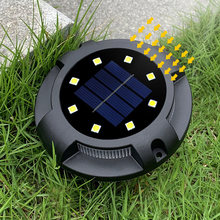 4 Uds. De luces LED solares de acero inoxidable, Luz de suelo Solar enterrada, para camino de jardín al aire libre, luces de tierra