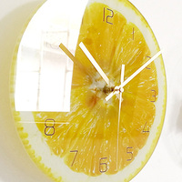Fruit Cartoon Wall Clocks Creative Silent Modern Design Children Home Clock Cute Lovely Orologio Casa Home Decoration SS50WC
