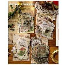 60 шт/упак Розничная Ретро штамп декоративные наклейки на дневник