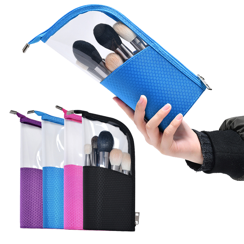 Cosmetic Brushes Bag Makeup Brushes Holder Organizer Bag Waterproof Stand-Up Pencil Case Pouch Bags For Women Travel Makeup Kits