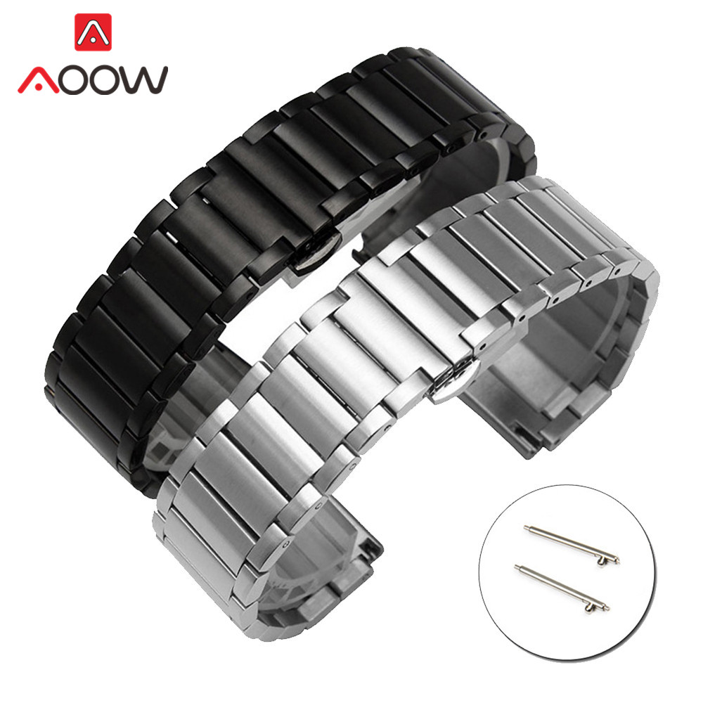 20mm 22mm Stainless Steel Watchband For Samsung Galaxy Watch Active 42mm 46mm Quick Release Strap Bracelet Band For Huawei Watch