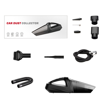 4-In-1 Car Handheld Vacuum Cleaner With Pointer Tire Inflator Pump Pressure Gauge Led Light Vacuum Cleaner For Home Auto Car