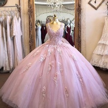 Ball-Gown Quinceanera-Dresses Masquerade Tulle Formal Charming-Scoop Appliques 15-Party