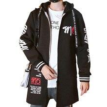 Северная зимняя мужская куртка в стиле хип-хоп, длинный Тренч, мужская куртка в стиле панк, корейские толстовки с капюшоном, ветровка для лица размера плюс 3XL, одежда