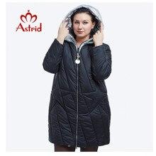 Nouveau 2018 hiver veste femmes mode Design doré à capuche hiver veste femmes chaud longue FR 5076