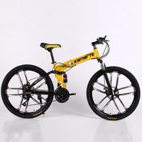 27 speed mountain bike 24/26 inch folding bicycle knife wheel disc brake bikes Male Female adult outdoor travel mountain bicycle