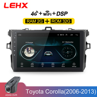 LEHX Car Radio Android 8.1 Multimedia Player For Toyota Corolla E140/150 2006 2007 2009 2010 2011 2012 2013 WIFI GPS Navigation
