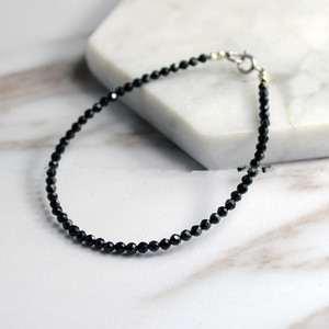 Black spinel round faceted 2mm