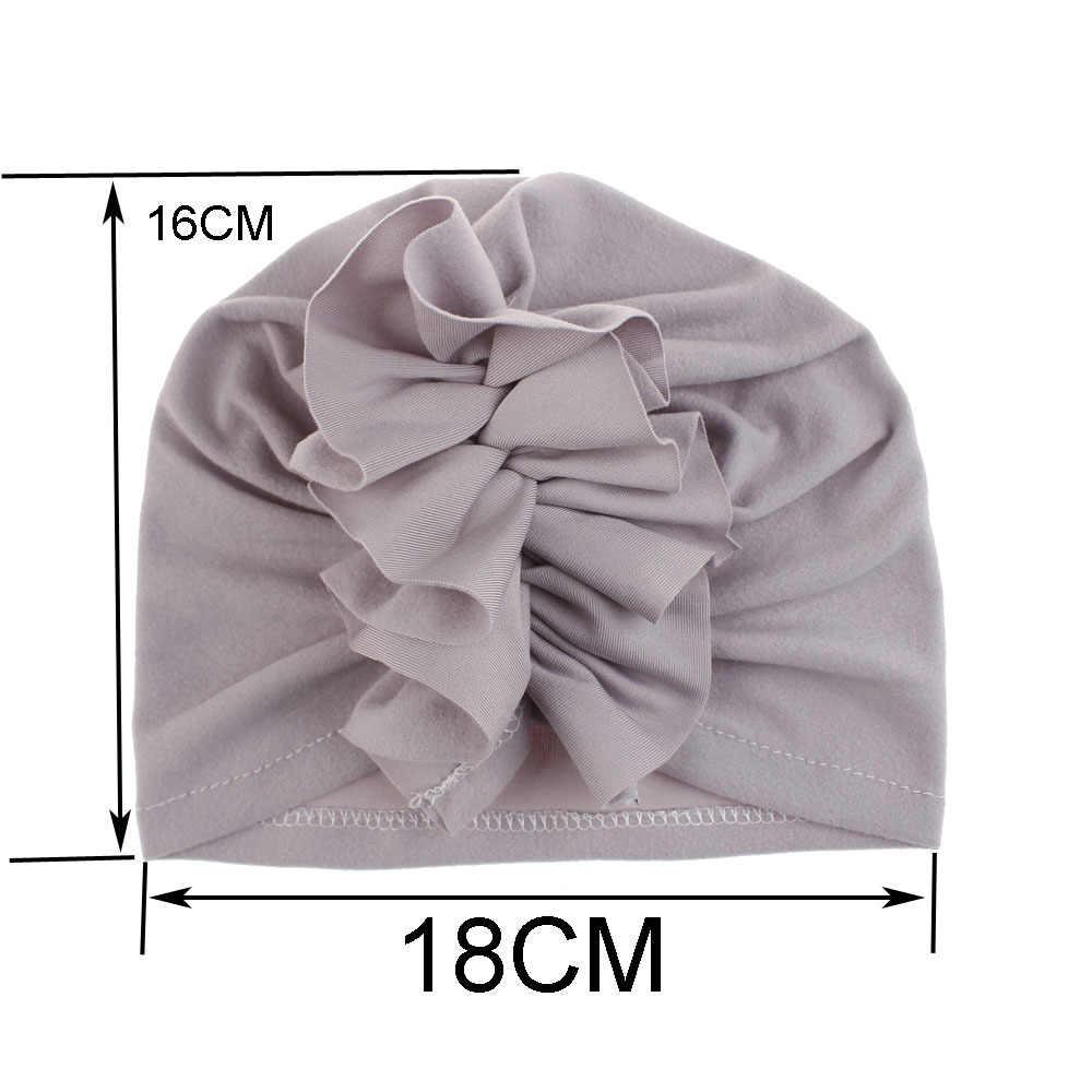 10 colores bebé algodón suave sombreros superior nudo algodón suave turbante nudo chica verano gorros niños recién nacido gorra para bebés niñas