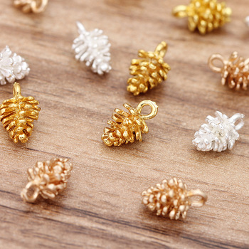 20pcs Metal Small Pine Cone Charm Pendants Gold Silver Accessories for Jewelry Making DIY Charms Pendant Supplies 12x7mm 20pcs antique silver tone dog charms cat pendant for jewelry accessories making 19 18mm