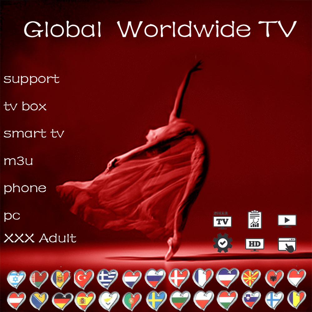 Global stable Android tv box only M3U 2&3 devices Europe Germany Turkey Arabic India Netherlands Spain España TV M3U Smart TV