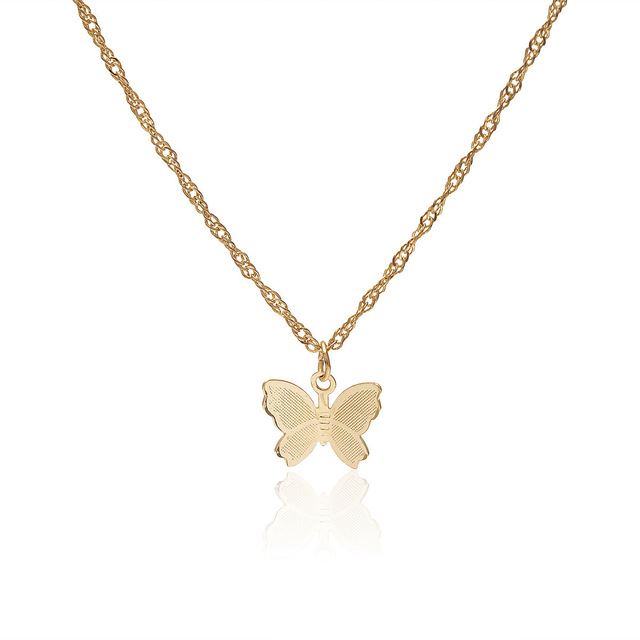 JCYMONG Bohemian Cute Butterfly Choker Necklace For Women Gold Silver Color Clavicle Chain 2020 Fashion Female Chocker Jewelry