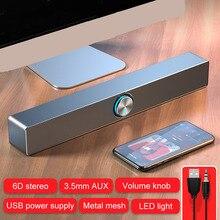 2021 TV Sound Bar AUX USB Wired Wireless Bluetooth Speaker Home Theater FM Radio Surround SoundBar for PC TV Computer Speakers