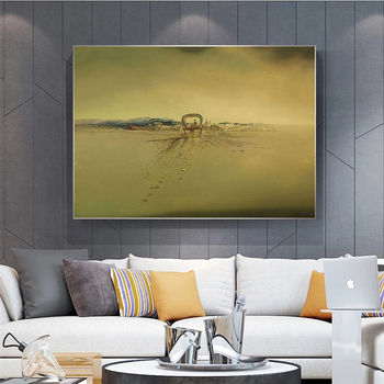 Salvador Dali Surrealism Ghost carriage Canvas Prints Painting On Wall Art Abstract Weird Posters Picture Home Decor Cuadros 5