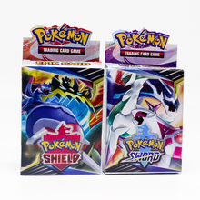 New Pokemon Trading Card Game Sword Shield Collection Shining Box GX Flash Cards Energy Trainer Tag Team 25pcs Toys for Children стоимость