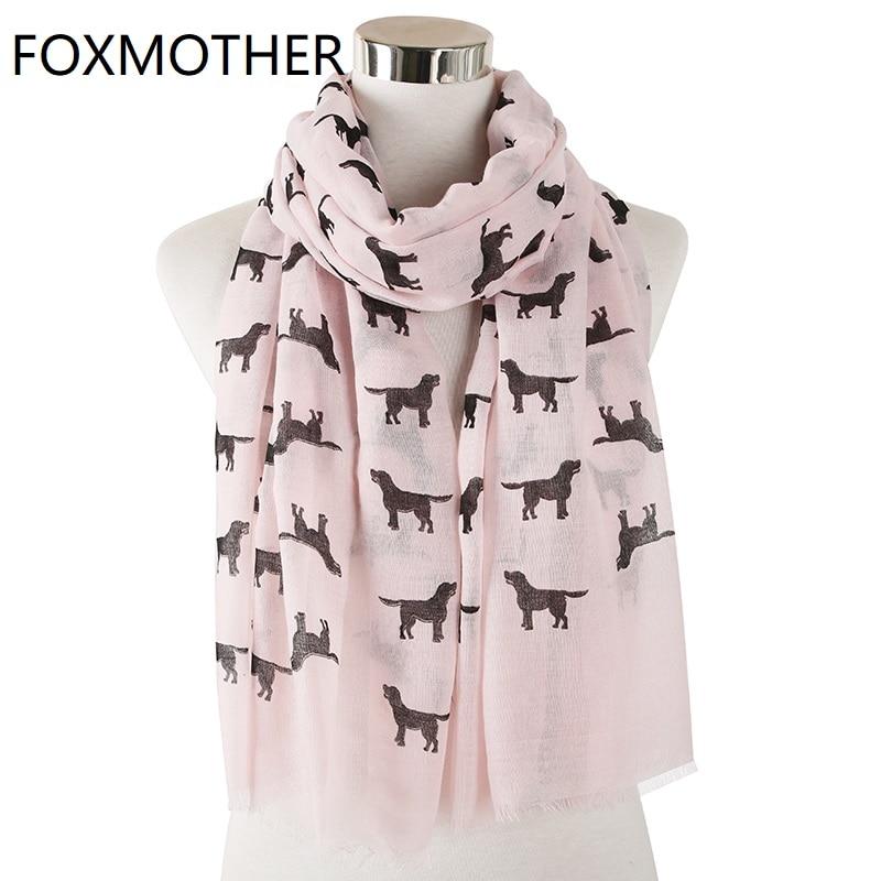 New Ladies Women Dog Print Scarf Pashmina Fashion Neckerchief Animal Print Scarf