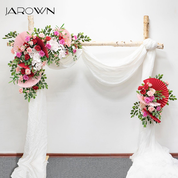 JAROWN Creative Origami Silk Flower Arch Floral Wedding Decoration Set Event Stage Background Layout Wedding Decorscion Hogar