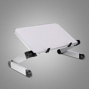 Image 5 - Alüminyum alaşım dizüstü taşınabilir katlanabilir ayarlanabilir dizüstü bilgisayar masaüstü bilgisayar masa standı tepsisi dizüstü Lap PC katlanır masa masası