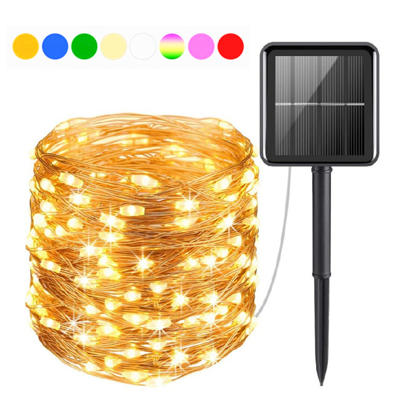 200/300/400 LED Solar Light String Outdoor Waterproof Fairy Lights Garden Garland Christmas Party Solar Lamp Decoration