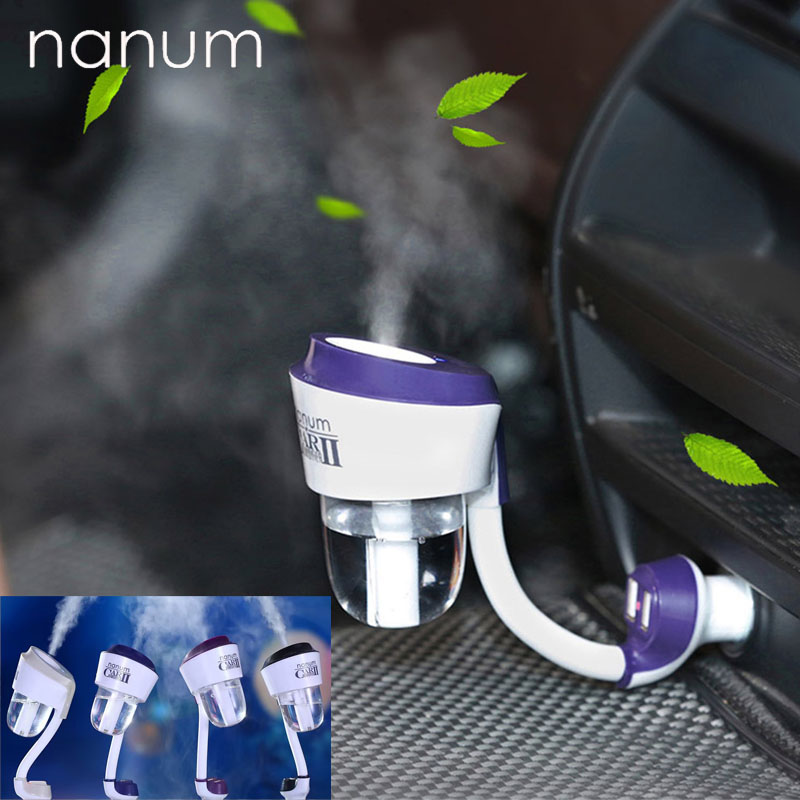 Nanum Car-Steam-Humidifier Aroma-Oil-Diffuser Aromatherapy-Mist-Maker Car-Charger New