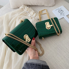 Women Fashion Bags Stone Pattern PU Leather Shoulder Messeng