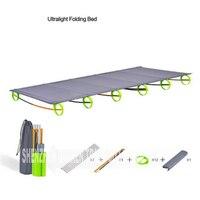 Neue Robuste Komfortable Ultra Licht Tragbare Aluminium Legierung Camping Outdoor Klapp Zelt Bett Brechen Mittagessen Camping Bett Betten Möbel -