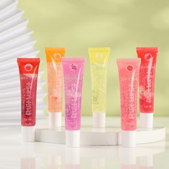 12pc/lot Scented Lip Jelly Lip Gloss Fruit Burst Lip Oil Scented Lip gloss Plumping Lipgloss Moisturizer Vitamin E Mineral Oil 1