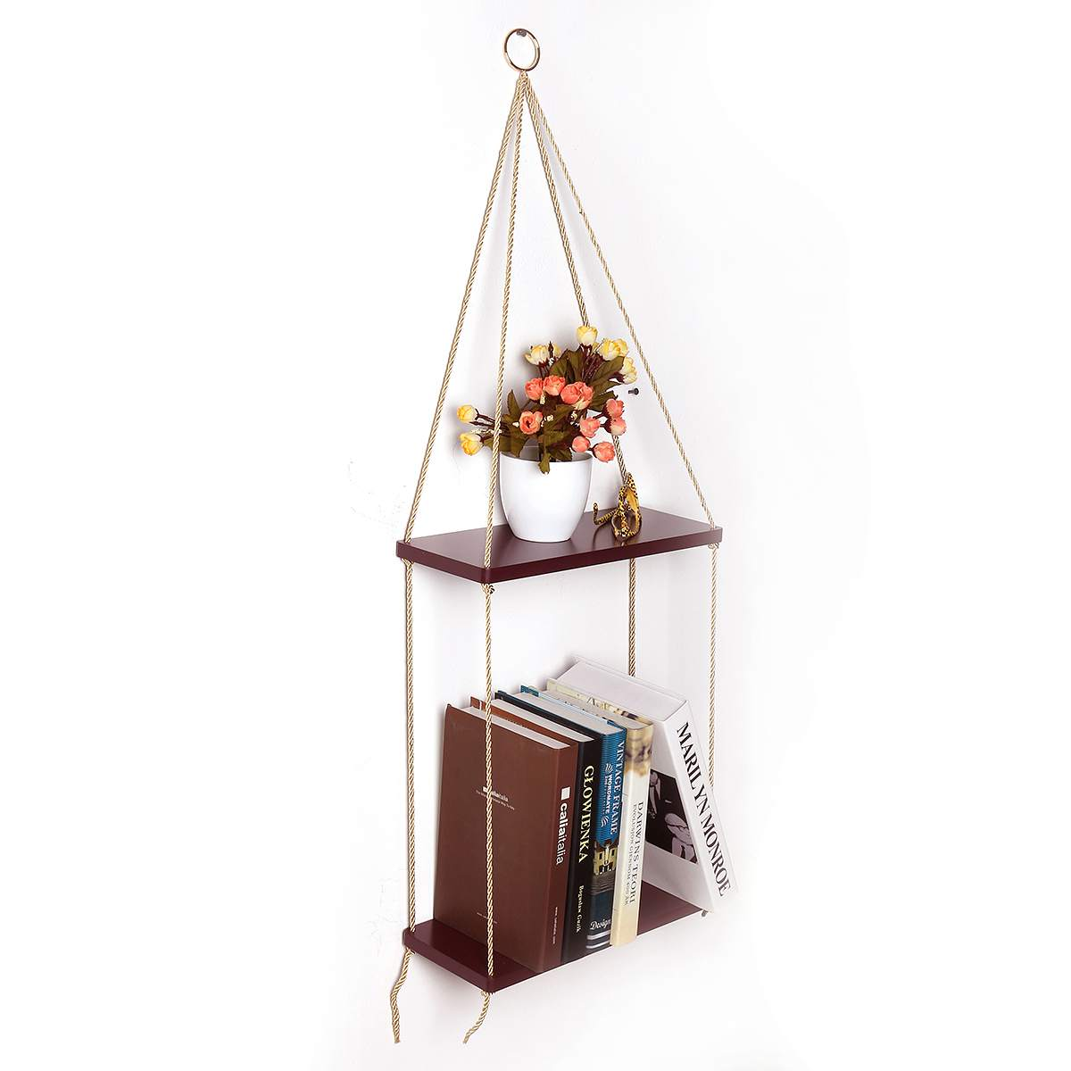 Storage Shelf Rack Wall Hanging Wood