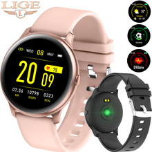 цена 2019 LIGE Smart Bracelet Women Heart Rate Monitor Men Sport Smartwatch Message reminder Fitness tracker For IOS Android Phone онлайн в 2017 году