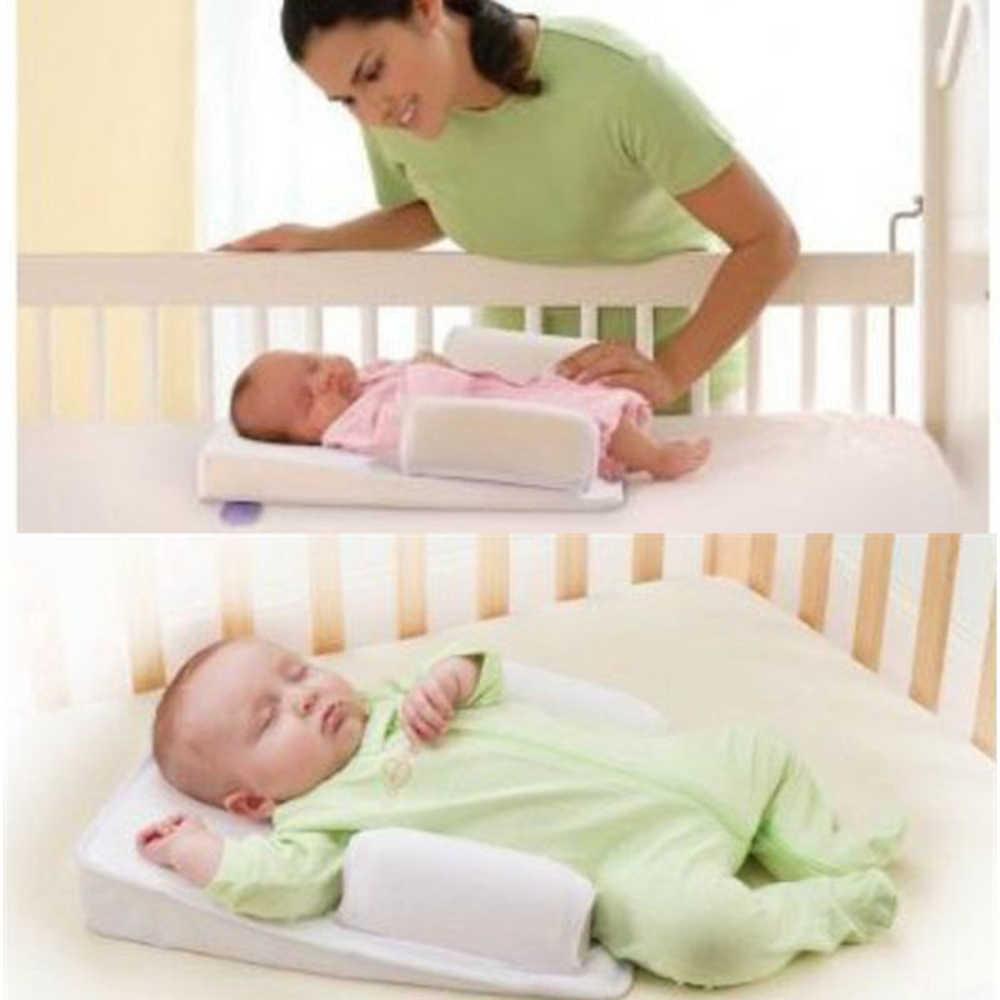 Positioners שינה תינוק בטוח אנטי רול שינה יילוד תינוקות למנוע שטוח ראש צורת כרית שינה מחצלת לחזור מותניים תמיכה