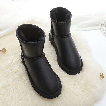 Best Selling Real Sheepskin 2020 Women's Winter Classic Snow Boots Genuine Women Top Quality Shoes - discount item  20% OFF Women's Shoes