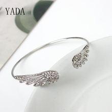 Подарки от yada браслеты с крыльями ангела и для женщин из нержавеющей