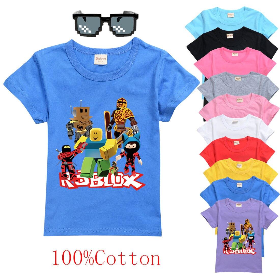 Camiseta das crianças para meninos um menino meninas crianças camisas da criança do bebê algodão robloxing dos desenhos animados t tops roupas curtas