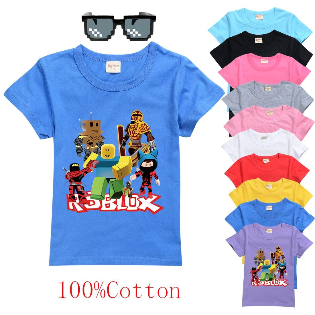 Детская футболка для мальчиков, для мальчиков и девочек, детские рубашки, Детская Хлопковая футболка ROBLOXing с героями мультфильмов, топы, оде...