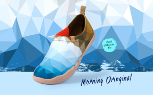 Image 2 - UIN sabah orijinal tasarım boyalı kanvas ayakkabılar erkekler moda makosen ayakkabılar geniş ayak mavi Sneakers hafif konfor rahat ayakkabılar