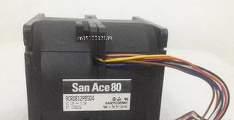 For Original SANYO 12V 5.5A 9CR0812P8S04 8080 80*80*80mm 8 Line Big Wind Car Booster Violent Fan Free Shipping