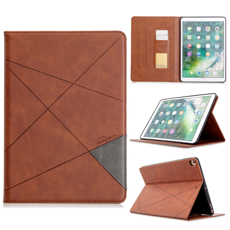 coffee Blue Luxury Flip PU Leather Tablet Case For iPad 10 2 2019 Wallet Stand Funda For iPad