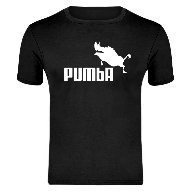 2019 Summer New PUMBA Print T Shirt Mens Cotton T-shirts Tee Short Sleeve High Quality Boys Tshirt TOPS Many Colors And Sizes