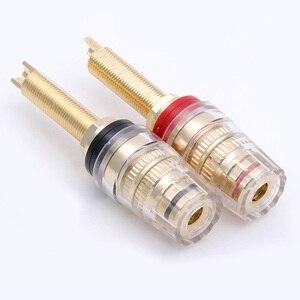 Image 5 - Connecteur de bornes HIFI, 4 paires de postes de liaison en laiton, poste de liaison de 19MM, amplificateur de haut parleur HIFI, prise Audio assortie à une prise banane de 4mm
