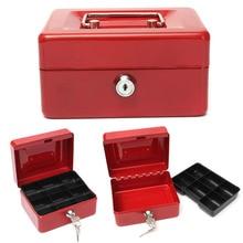 Money-Box House-Decoration Cash Security-Lock Safe Lockable Small Mini Petty 3-Size Practical