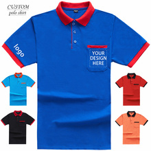 Mens Custom Embroidered Regular-Fit Polo Shirt Personalised Text Logo Workwear-Printing text or DIY photos