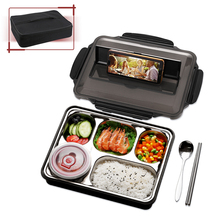 ONEISALL Thermal Lunch Box With Bag Set Stainless Steel Kid Adult Bento Boxs Leak-proof Food Container Portable Picnic Storage