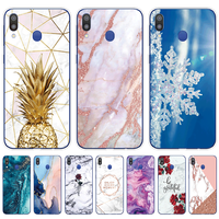 Case For Samsung M20 Cases Marble Soft Silicone Shell Phone Cover For Samsung Galaxy M20 GalaxyM20 M 20 SM-M205F M205 M205F 6.3