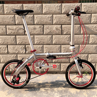 YNHON Folding Bike Children Bicycle14 Inch Single Speed 16 Inch Three Speed Mini Tuning