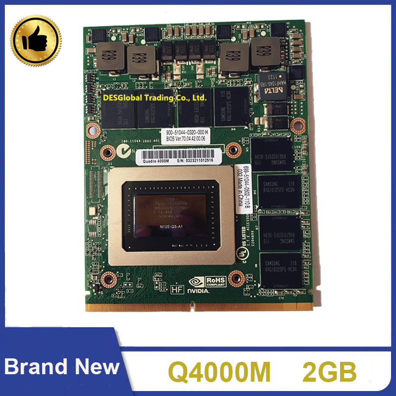 Brand New Quadro 4000m Q4000M N12E-Q3-A1 Video Graphic VGA Card CN-0HGXY3 HGXY3 For DELL M6600 HP 8760W 8740W Fast Shipping