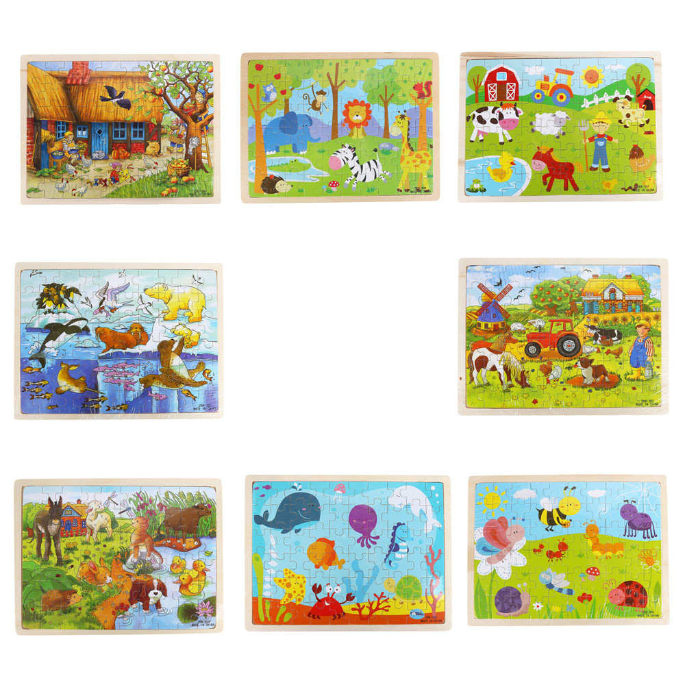 Children's Educational Toys 1PC Wooden Interesting Puzzle Educational Developmental Baby Kids Training Igsaw Puzzle Toy  L0120