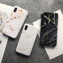 Stylish Premium Marble Phone Case for iPhone XS Max for iPhone X XR 8 7 6 S Plus Personality Drop-resistant Glossy Back Cover(China)