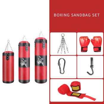Bokserski sprzęt treningowy Muay Thai pusty worek treningowy dekompresyjny ciśnieniowy bokserski worek z piaskiem z karabińczykiem tanie i dobre opinie VKTECH CN (pochodzenie) Kategoria z worków z piaskiem 8 lat Boxing Bag